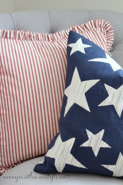 All American Summer Guest Room, Patriotic Decor, 4th Of July Decor, Red  White