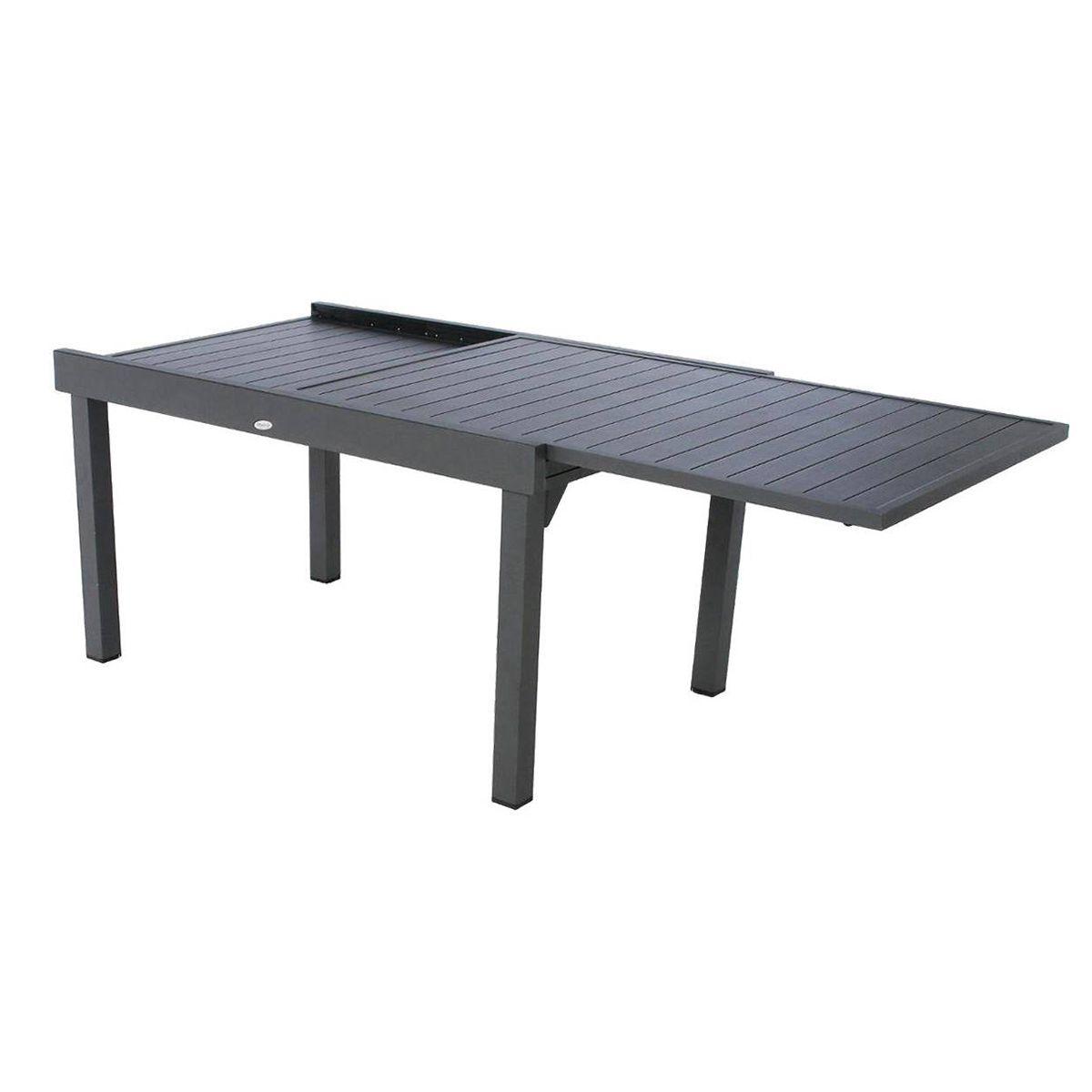 Table Extensible Rectangulaire Alu Piazza 8 10 Places Ardoise Avec Housse De Protection Hesperide Taille Table Extensible Table De Jardin Mobilier Jardin