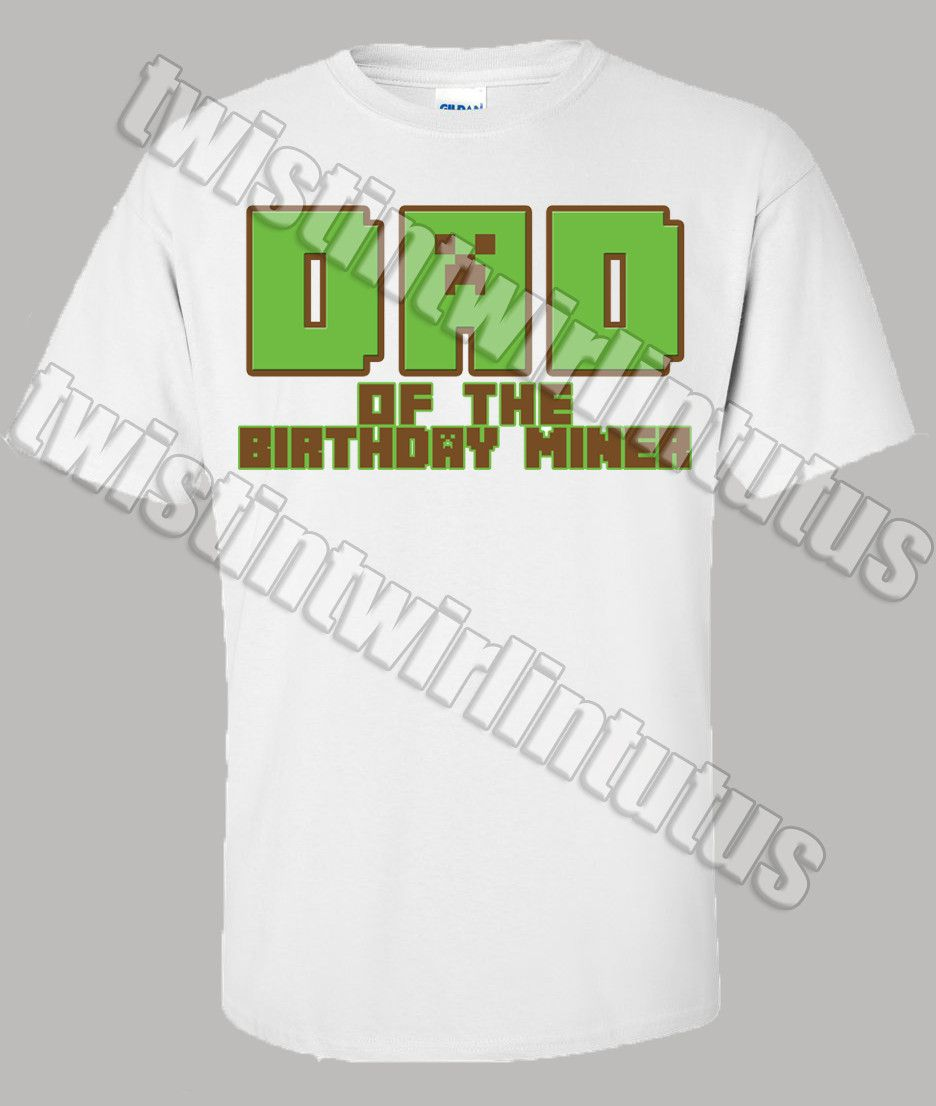 6dff0f98 Minecraft Dad Shirt | Minecraft Family Shirts | Minecraft Birthday Shirt |  Minecraft Birthday Party Ideas