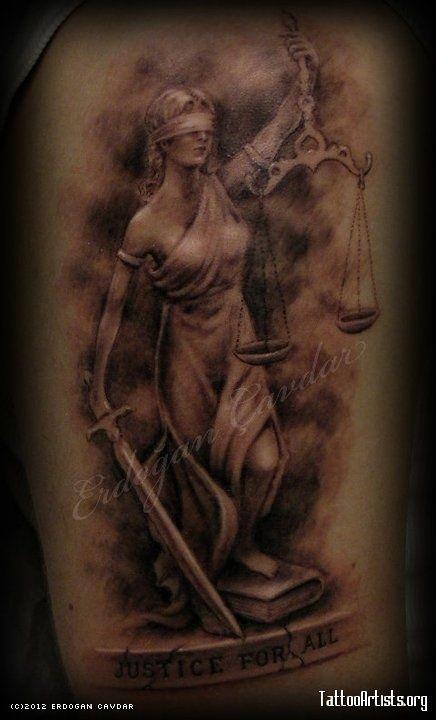Lady Justice Justice Tattoo Sleeve Tattoos Scale Tattoo 8