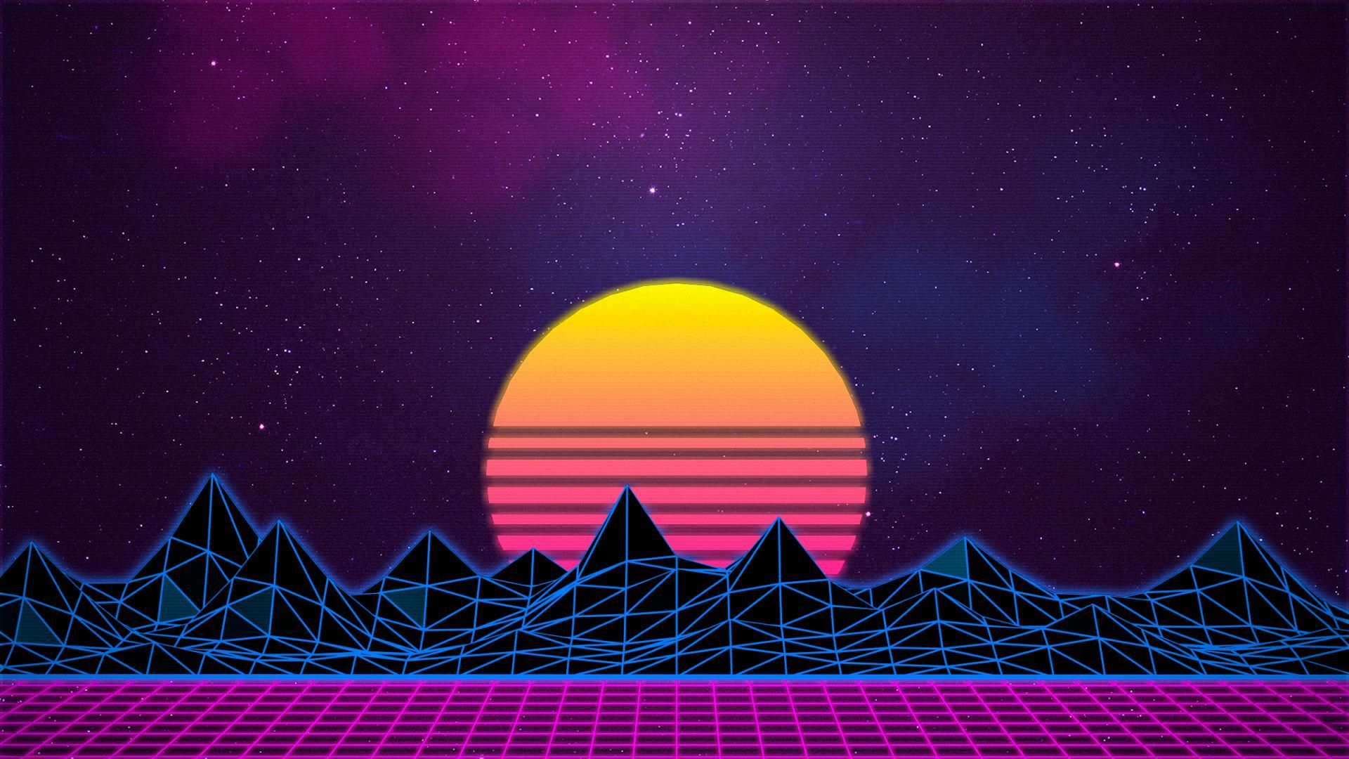 1920x1080 Synthwave New Retro Wave Neon Digital Art Wallpaper Art And Vaporwave Wallpaper Synthwave Art Retro Wallpaper
