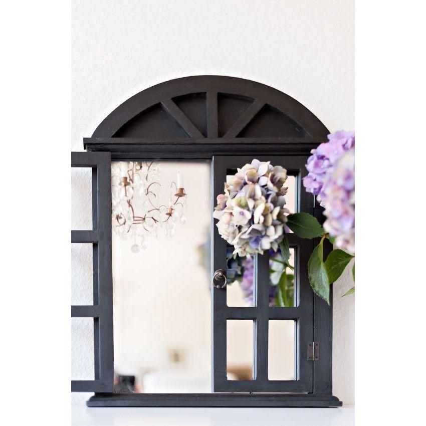 Landhaus Wandspiegel Spiegel Fensterläden Shabby French