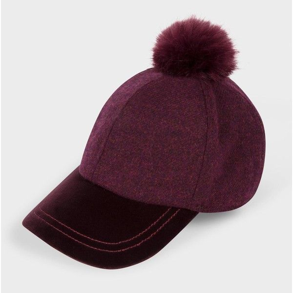 Paul Smith Women's Damson Wool And Velour Bobble Cap (€115) ❤ liked on Polyvore featuring accessories, hats, damson, wool hat, baseball cap hats, baseball hats, bobble hat and paul smith hat