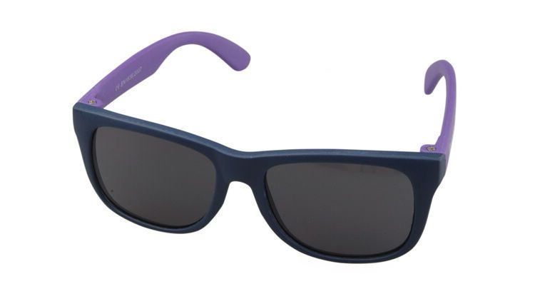 Navy Blue Rectangle Frame Children Sunglasses (Age 0-5yr)