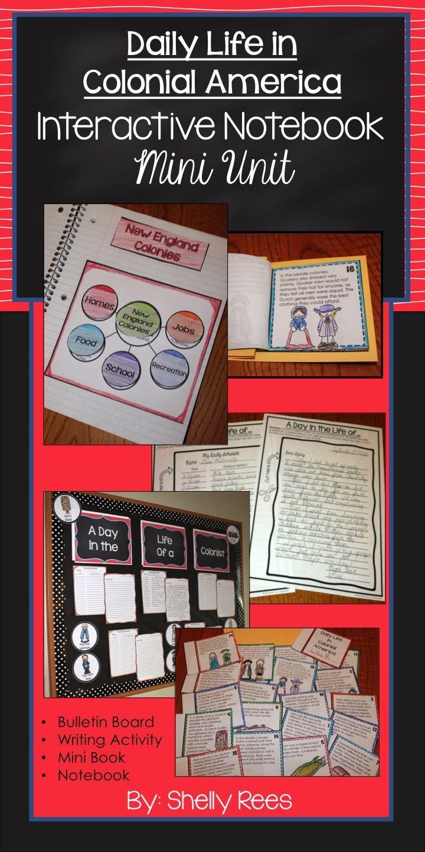 13 Colonies Life Activities Colonial America Unit Digital Printable Interactive Notebooks Social Studies Social Studies Elementary Colonial America [ 1440 x 720 Pixel ]
