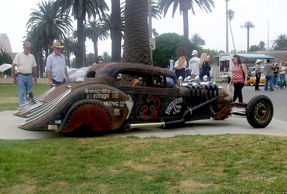 Awesome unique Rat Rod. Straight six with 4 carbs (can\'t tell what ...