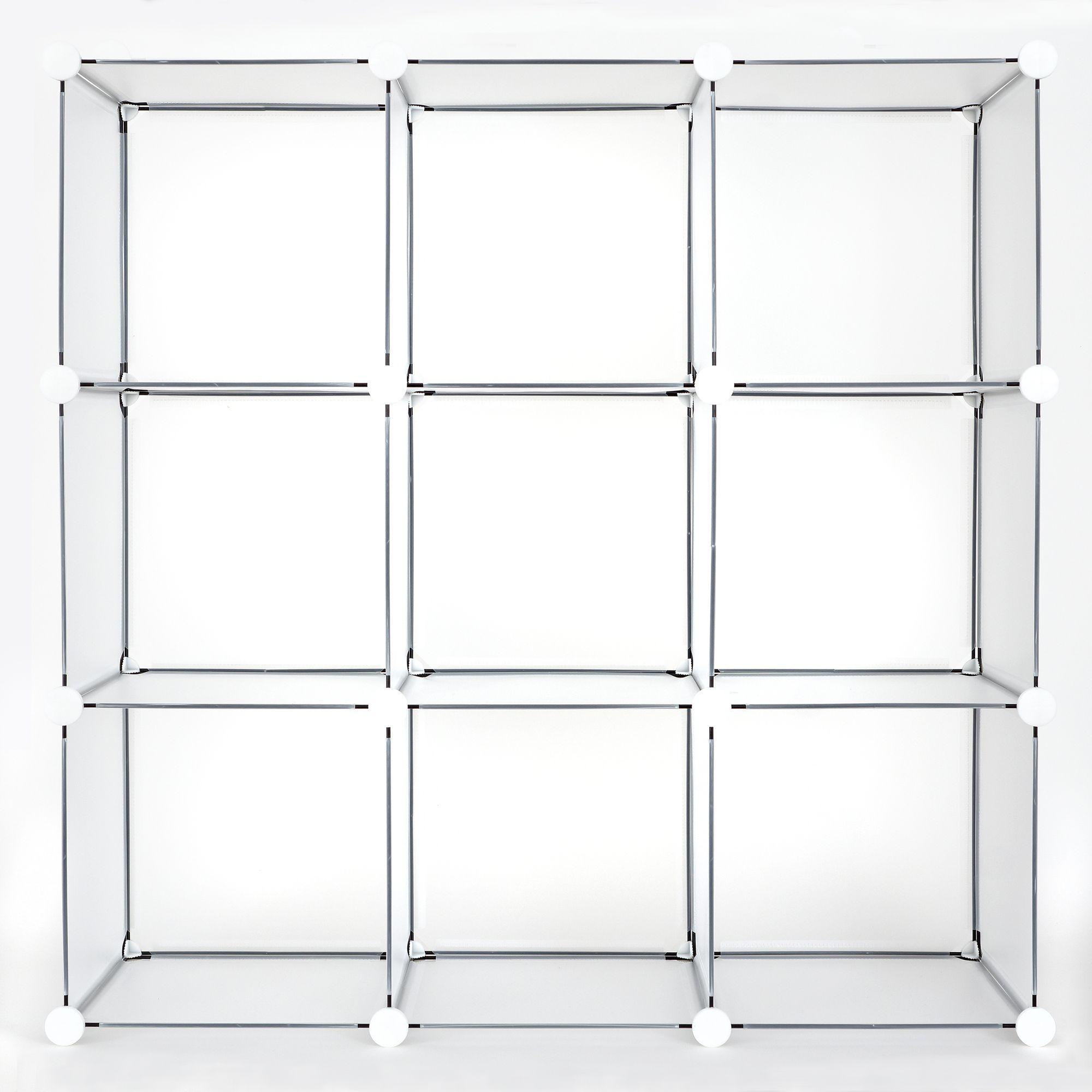 Achim Diy Modular Storage Unit 12x12x12 Clear Frost Walmart Com In 2020 Modular Storage Cube Storage Shelving Unit