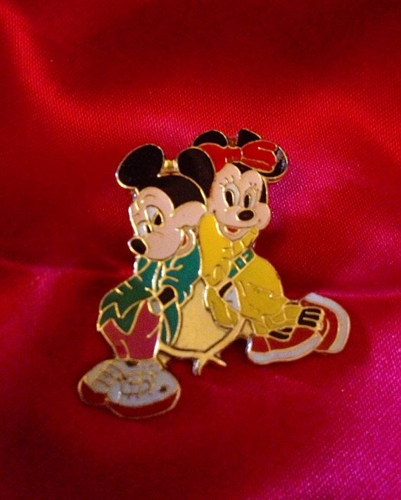 Vintage Retro Disneyana Disney Mickey Mouse & Minnie Mouse Metal Pin on Etsy, £2.50