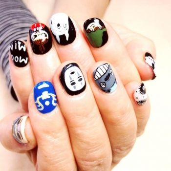 Anime nails. From the film 'My Neighbor Totoro'.