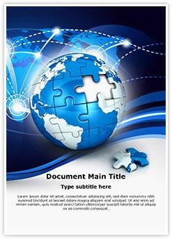 Globe puzzle word document template is one of the best word document globe puzzle word document template is one of the best word document templates by editabletemplates editabletemplates powerpoint templates high toneelgroepblik Choice Image