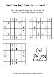 photograph regarding Sudoku 6x6 Printable identified as Resultado de imagem para sudoku for young children printable 6x6