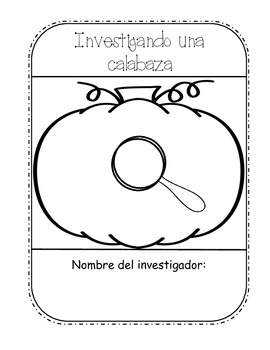 spanish pumpkin investigation investigando una calabaza. Black Bedroom Furniture Sets. Home Design Ideas