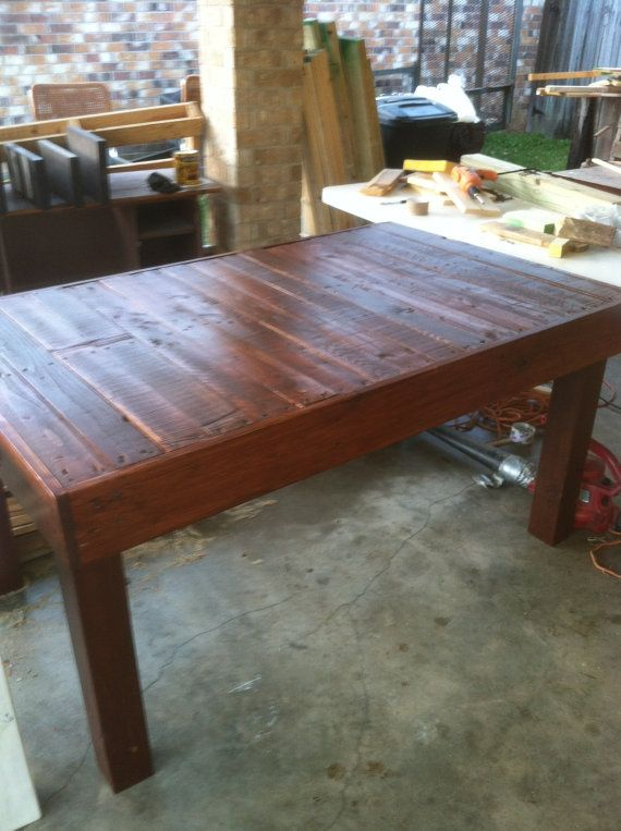 Reclaimed Pallet Wood Dining Table, Upcycled, Louisiana(Small