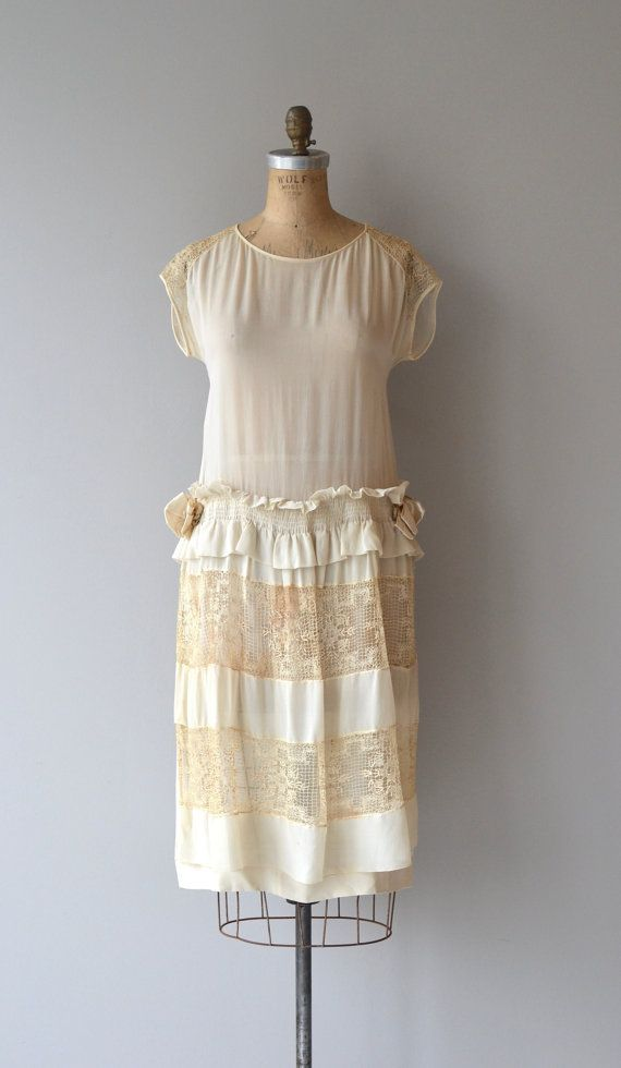 Demi-Voix dress | vintage 1920s wedding dress | silk and lace 20s ...