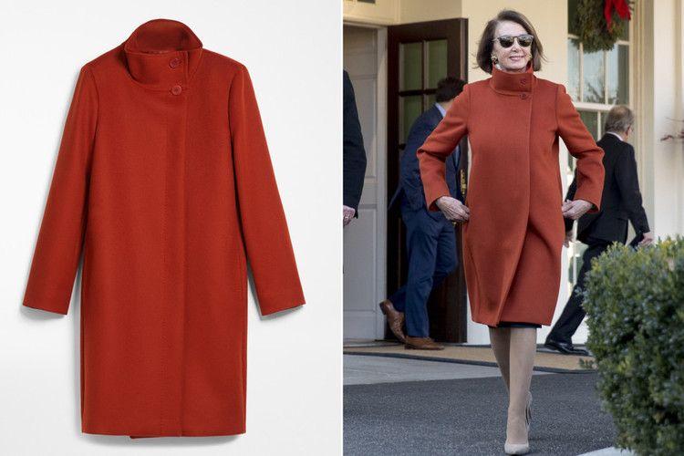 Max Mara Reissues Nancy Pelosi S Viral Red Coat New York Post Red Coat Coat Max Mara