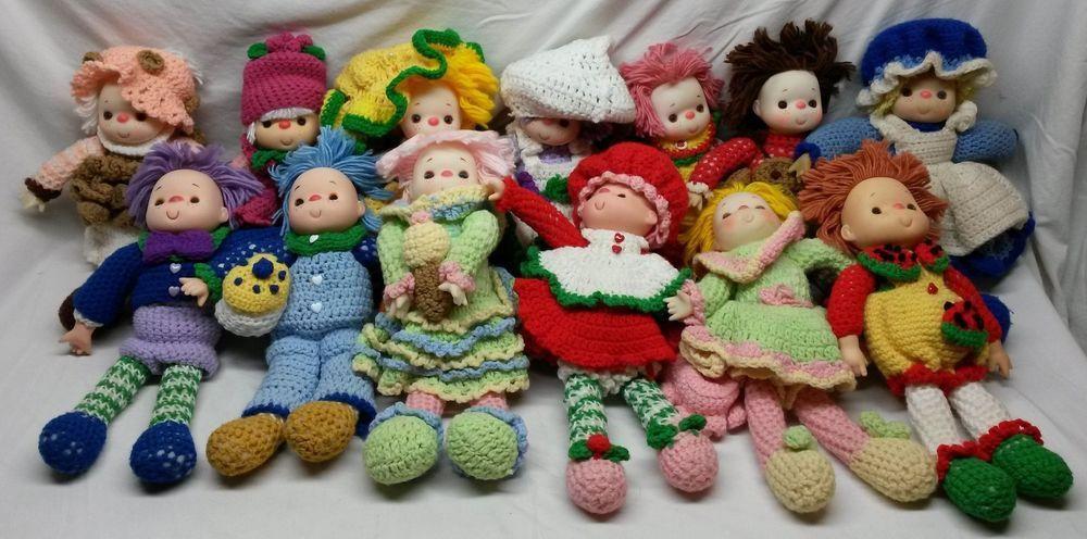 Vintage Crotched Crochet Yarn 13 Baby Dolls Strawberry Shortcake ...