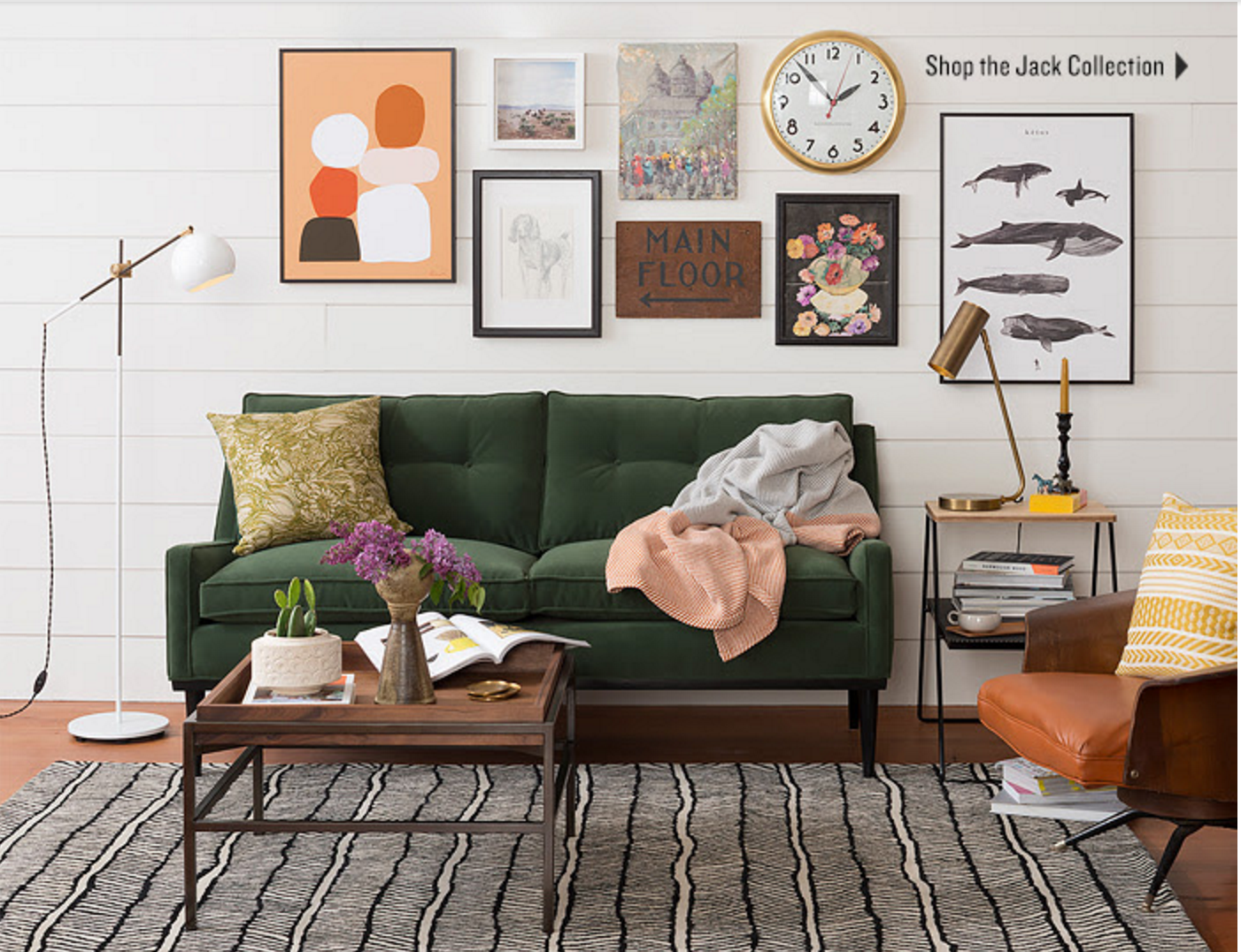 A Fun Mixed Gallery Wall With A Clock From Schoolhouse Electric
