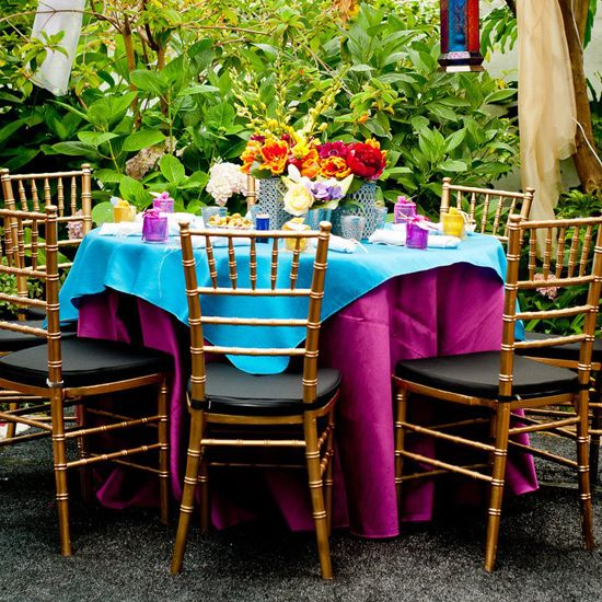 Real Palettes Moroccan Bridal Shower Orange and Teal Color Explosion : moroccan table settings decor - pezcame.com