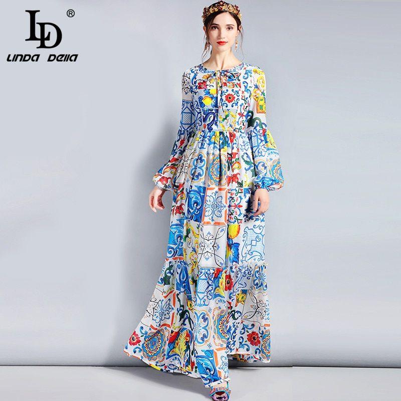 31f01f839d LD LINDA DELLA Fashion Designer Maxi Dress 3XL Plus size Women's ...