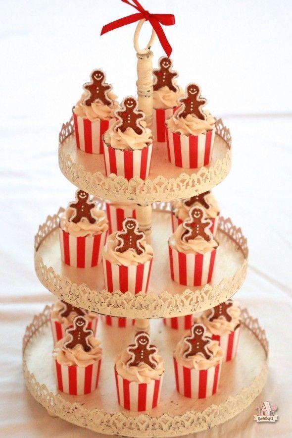 Christmas Maple Cupcakes