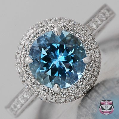 vintage aquamarine and diamond ring i kind of like this in replacement for the typical