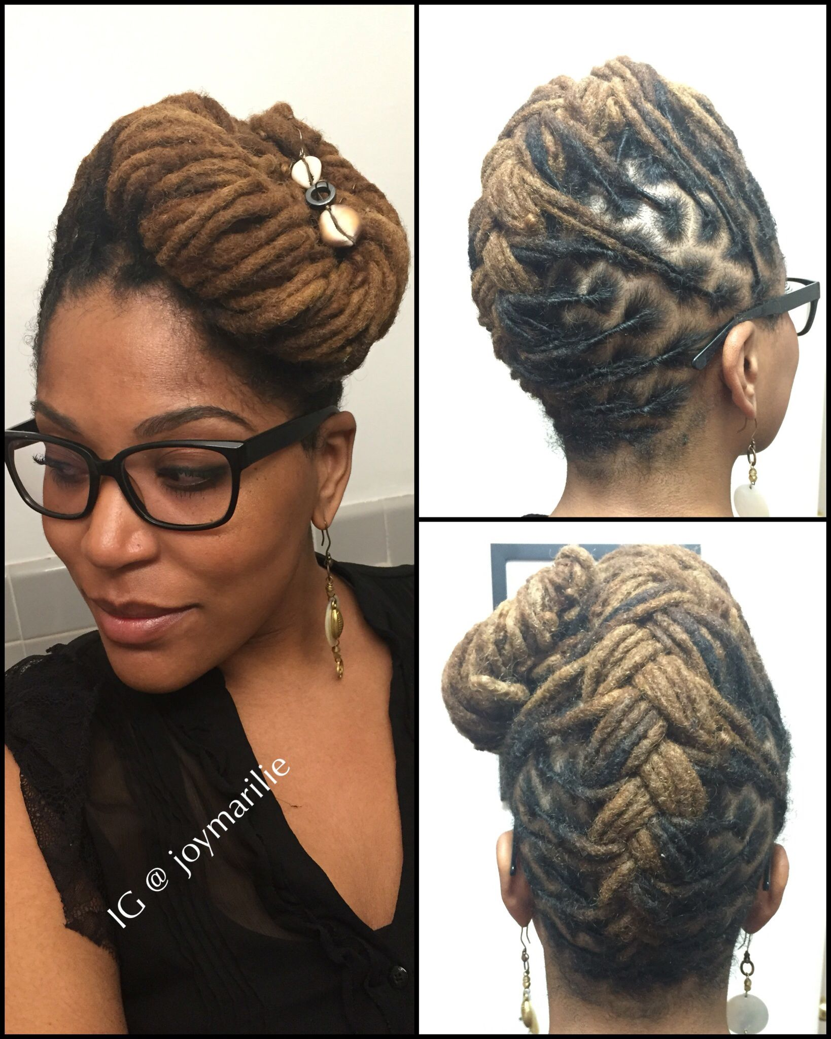 upside down french braid loc style   my loc styles and experiments