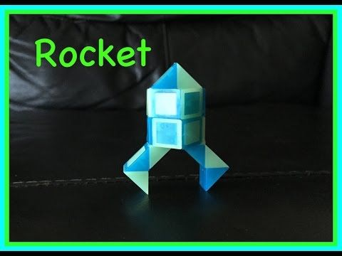 ▶ Rubik's Twist or Smiggle Snake Puzzle Tutorial: How to Make a Rocket... Step by Step Video - YouTube