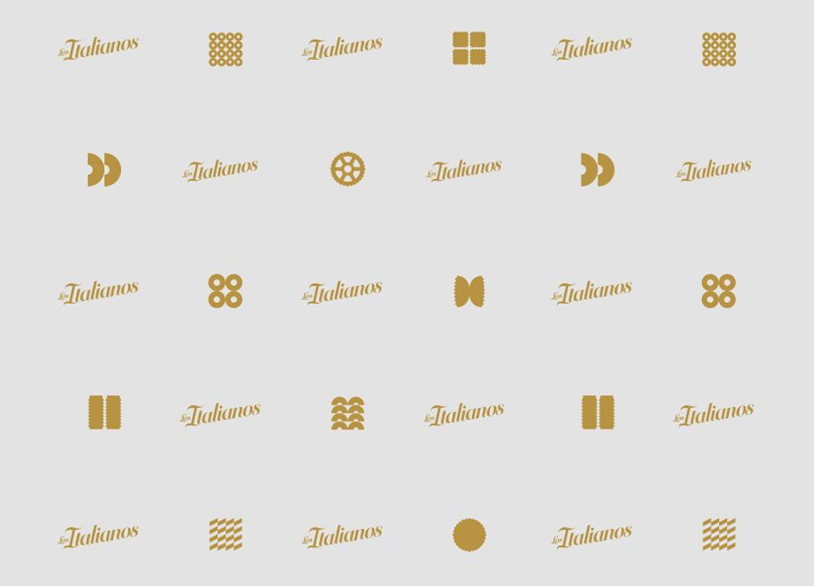 Pattern designed by Huaman for Barcelona based traditional Italian food producer Los Italianos