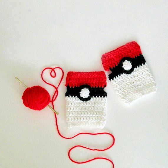 Pokemon tema Guantes sin dedos, guantes de Smartphone, Pokemon Go de ...