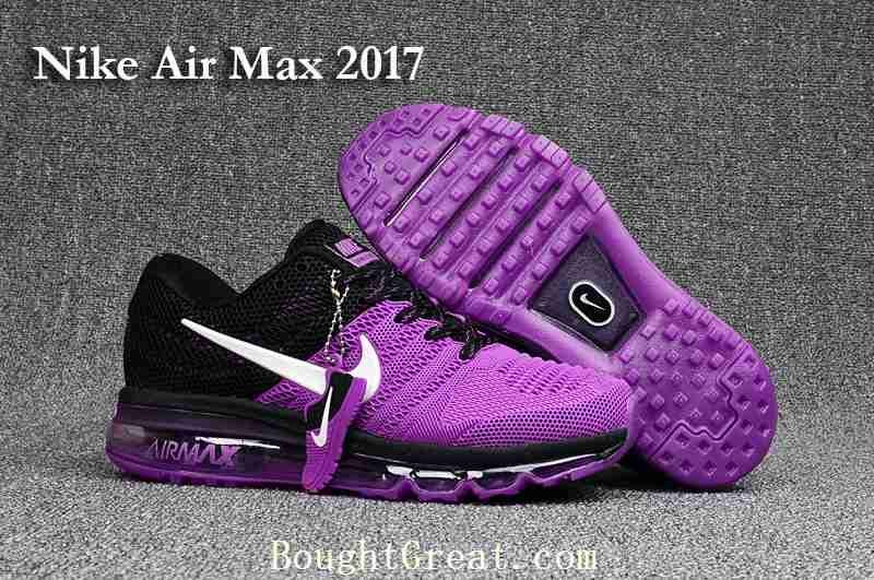 finest selection 25dfa d6970 New Nike Air Max 2017 Women Purple Black KPU Shoes