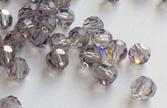 Vintage Swarovski Crystal Beads 5mm Black by CreationsByDevlin, $8.75