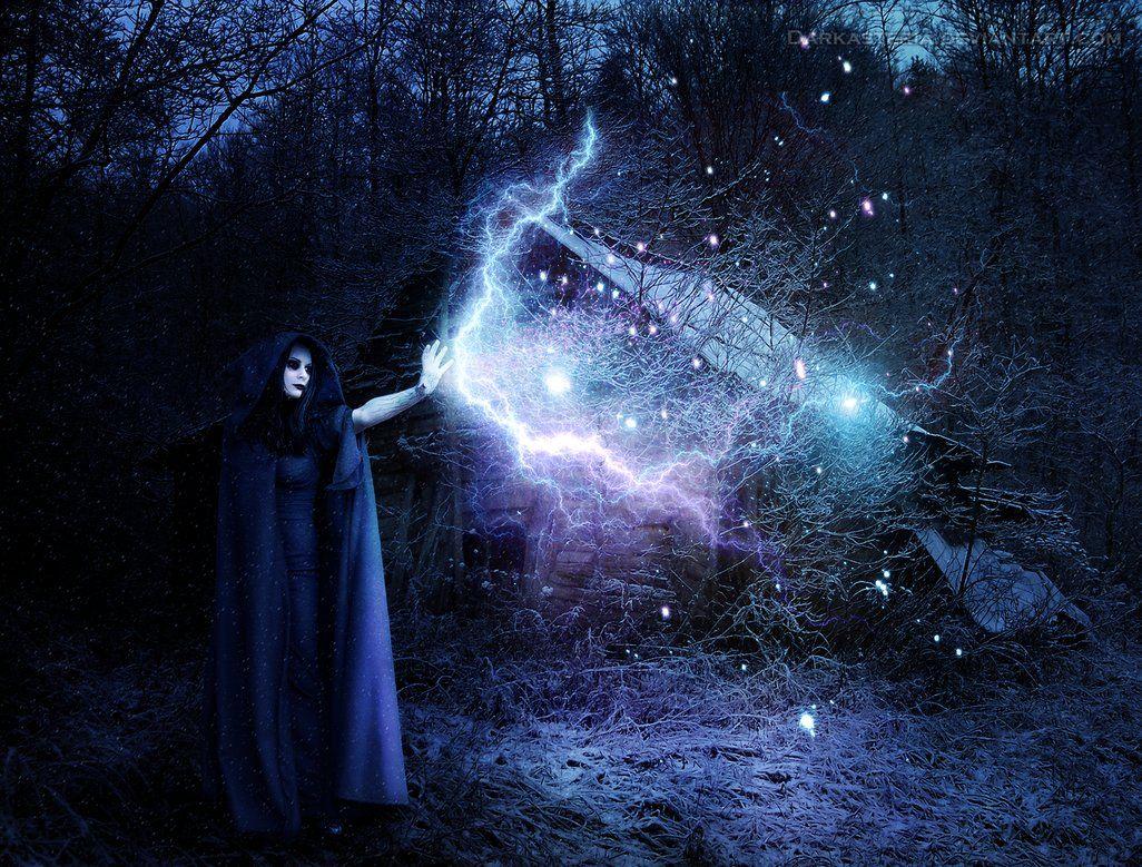 beautiful gothic fantasy art | Lunatic Winter Witch by DarkAsteria on deviantART