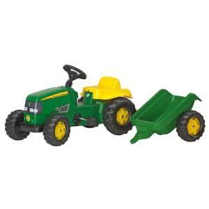 tracteur chantier tracteur pdales john deere avec remorque srie