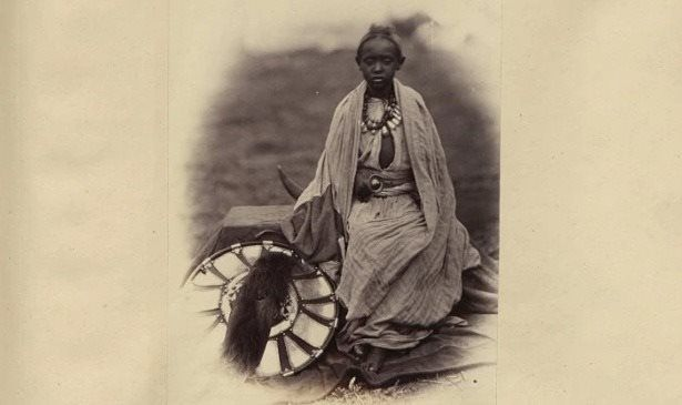 This photograph of Prince Alemayehu was taken during the 1868 Napier expedition, a British military incursion into Maqdala, Ethiopia to rescu