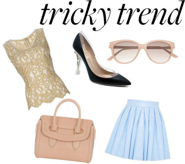 """How to Wear Tricky Trends at Work"" by gccassadrias ❤ liked on Polyvore"