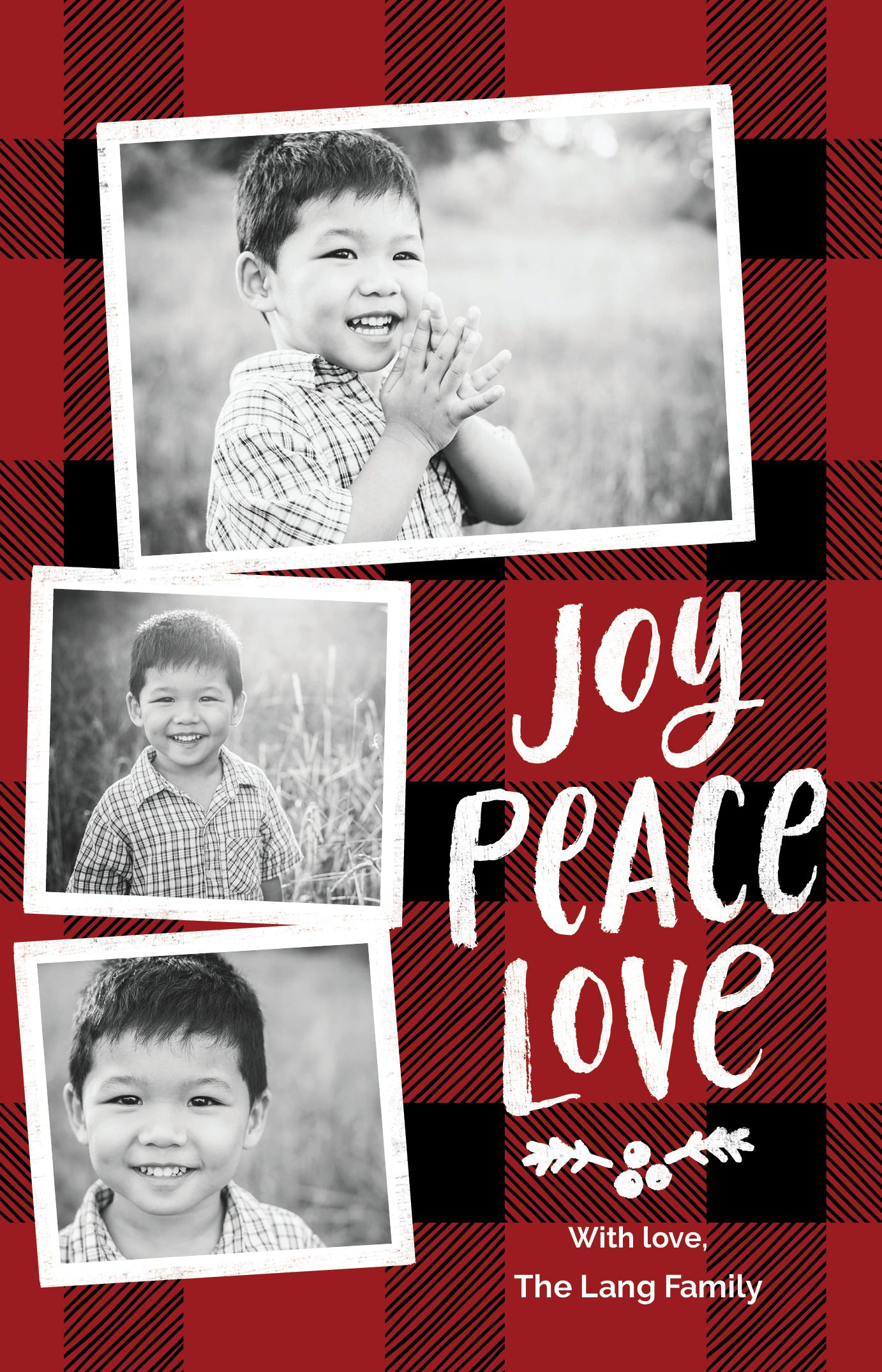 Pin By Vistaprint On Plaid Christmas Card Ideas With Images