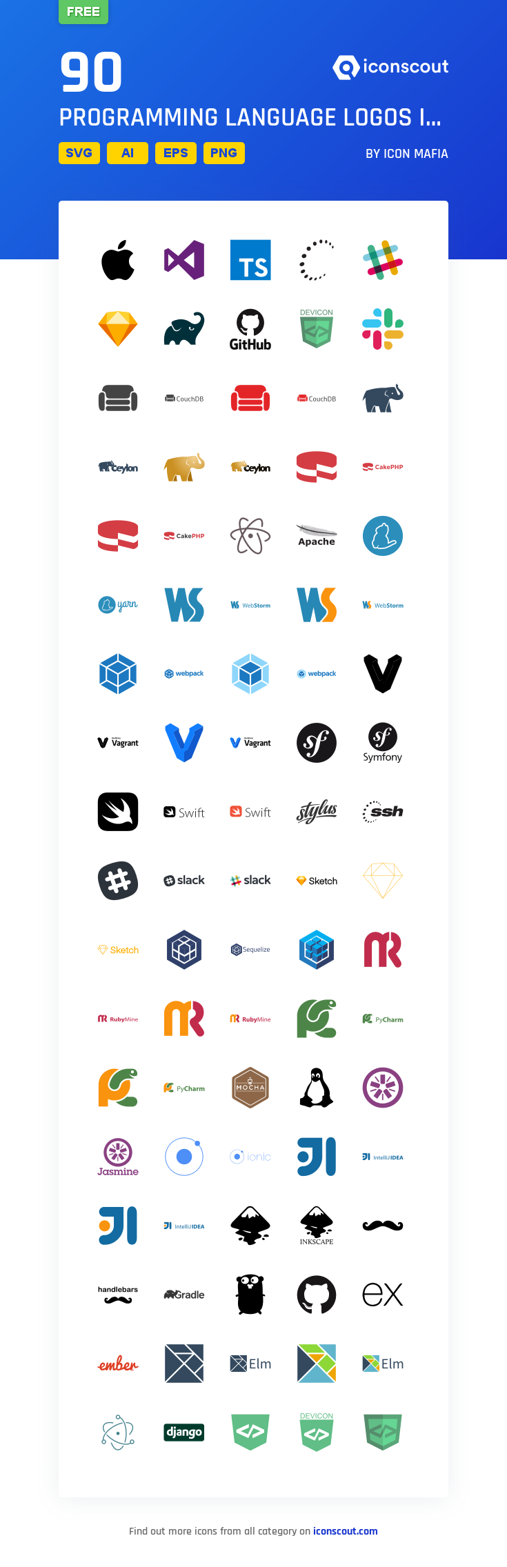 Download Programming Language Logos Icon Pack Available In Svg Png Eps Ai Icon Fonts Language Logo Programming Languages Language Icon
