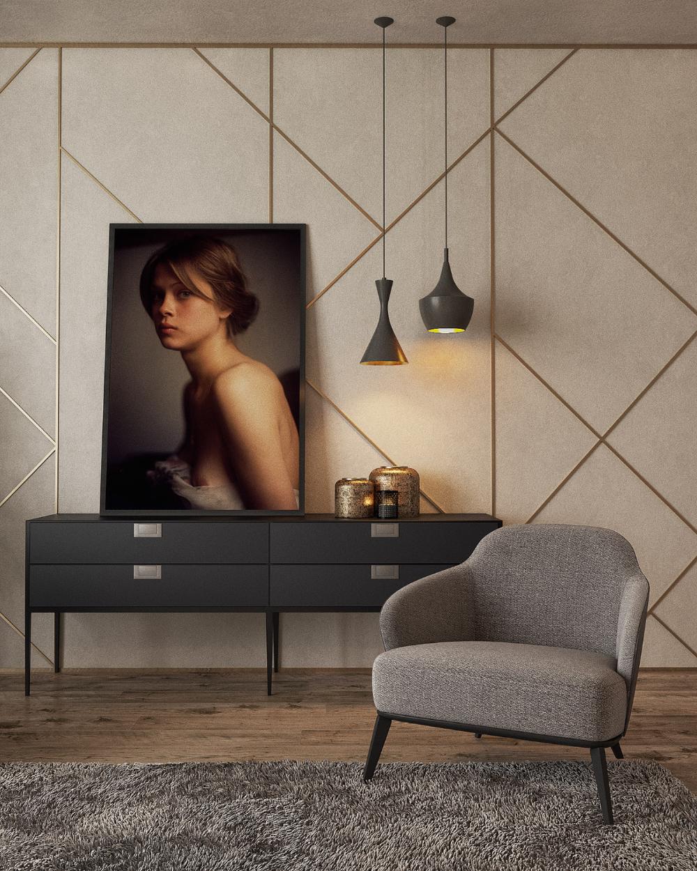 Autodesk Room Design: Modern Living Room In Gold On Behance In 2020