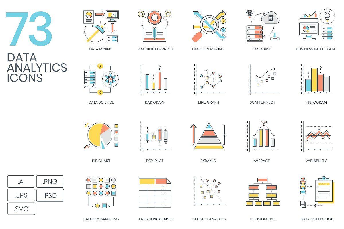 2 500 Icons The Client Bundle Data Analytics Box Plots Bar Graphs