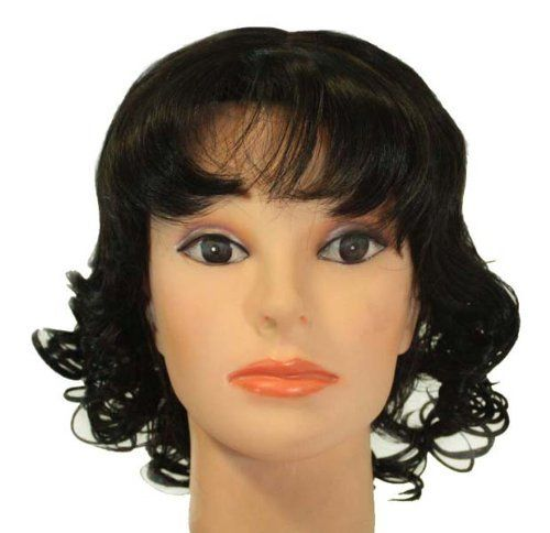 """11"""" Short Darkest Brown Curly Synthetic Wig [Apparel] by Willowbee. $33.99. 11"""" Short Darkest Brown curly synthetic wig"""