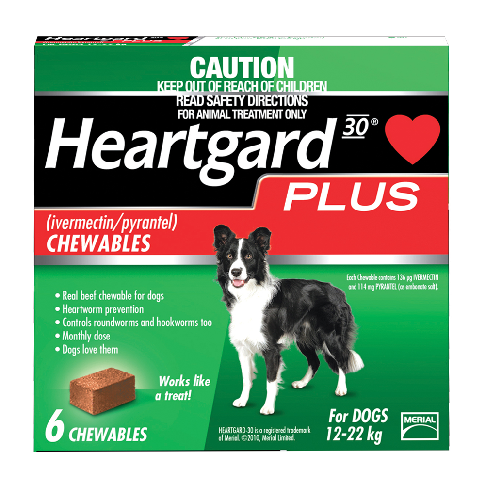 Heartgard Plus Med Dog Green Heartworm prevention