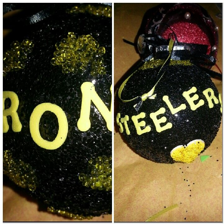 Plastic junked out ornament .... Steelers
