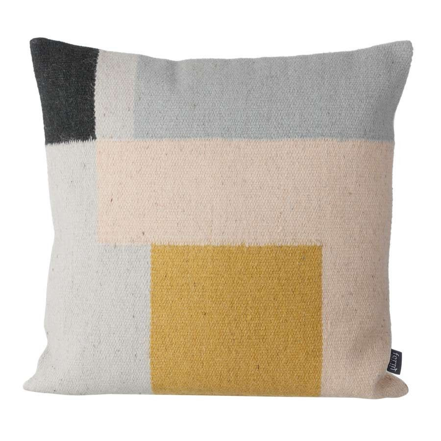 Kelim cushion, yellow square