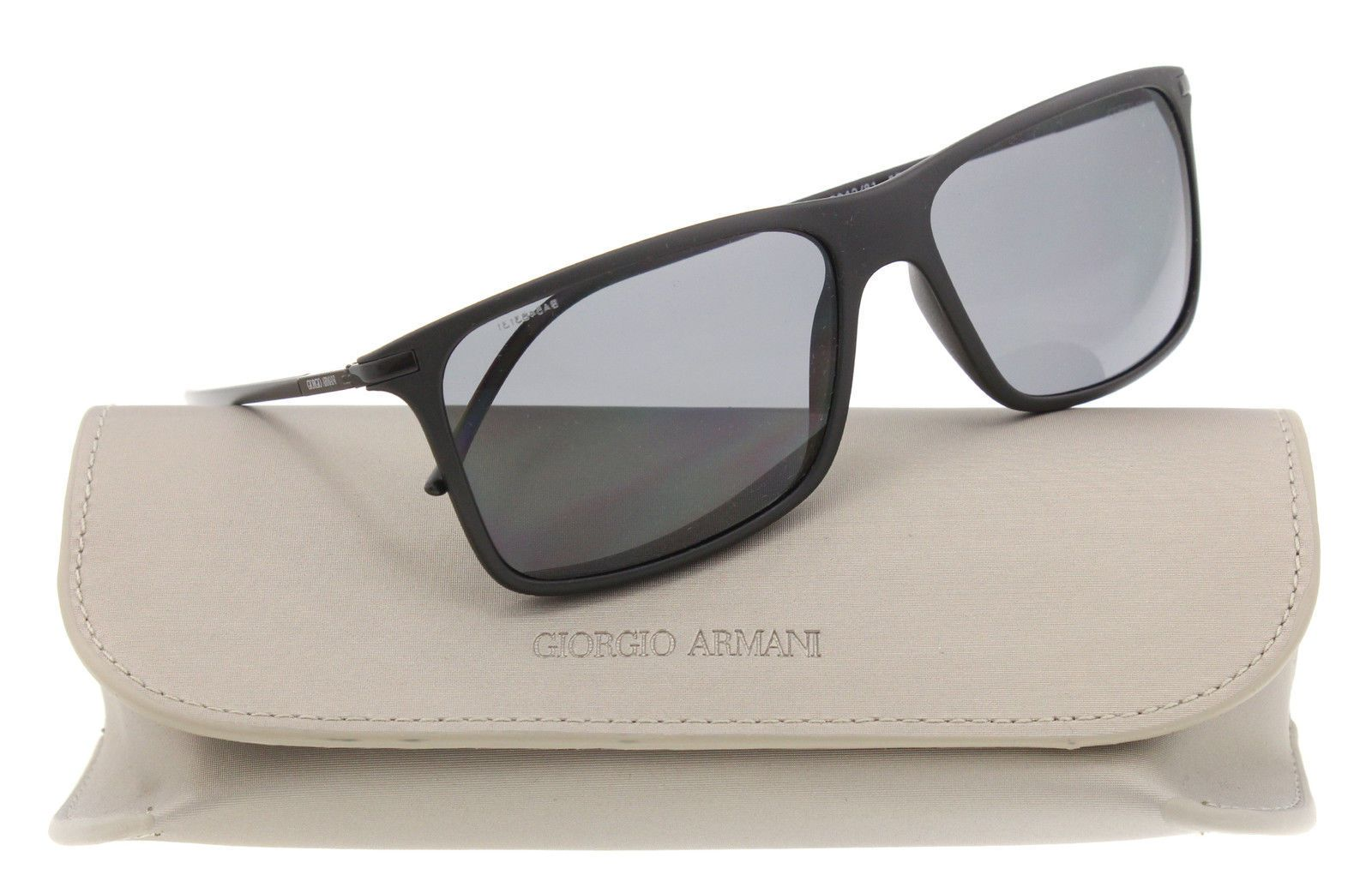 5b465eda62c New Giorgio Armani sunglasses Men Polarized AR 8034 Black 5042 81 AR8034  57mm