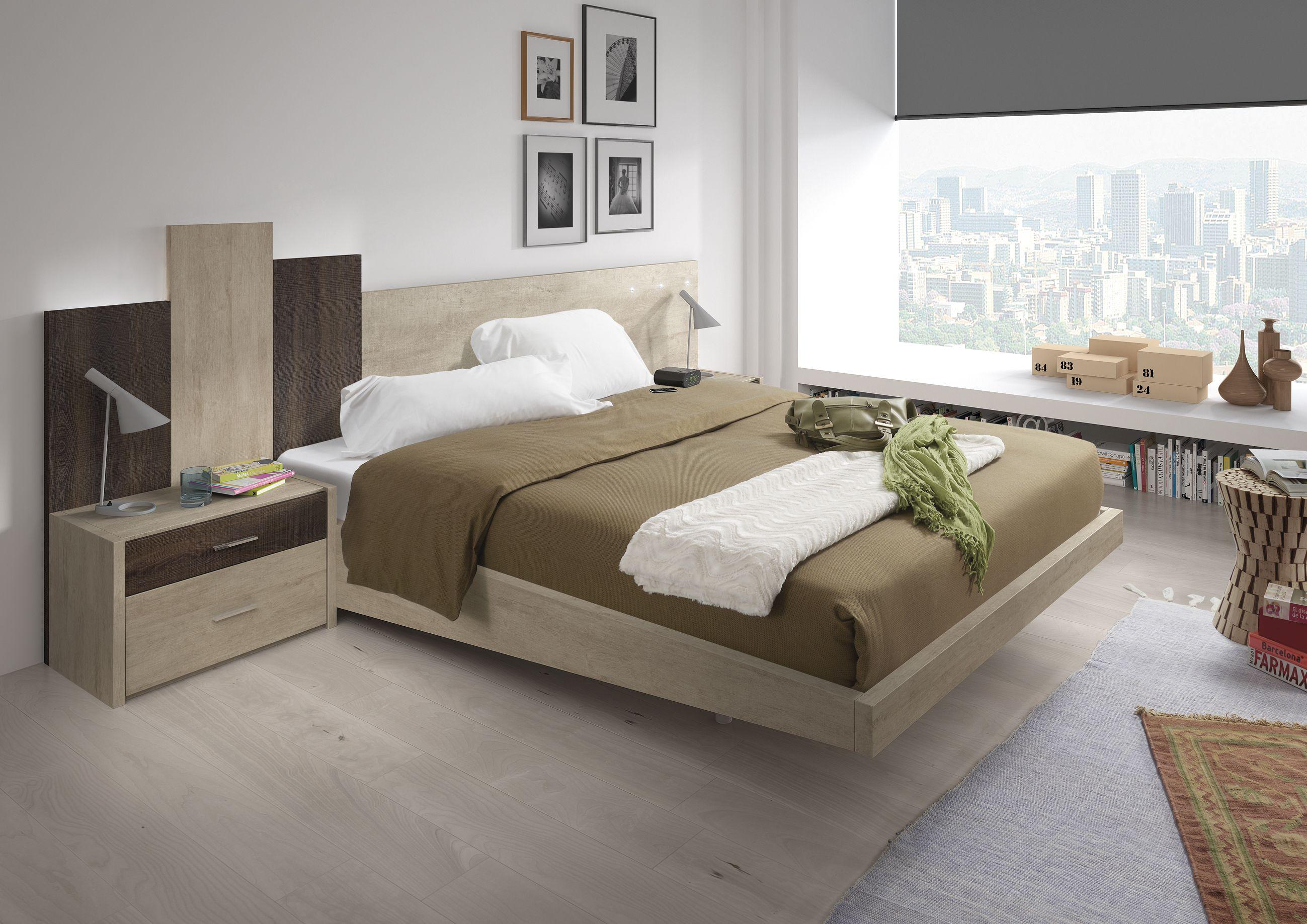 Dormitorio de matrimonio en los nuevos colores trufa y piedra y