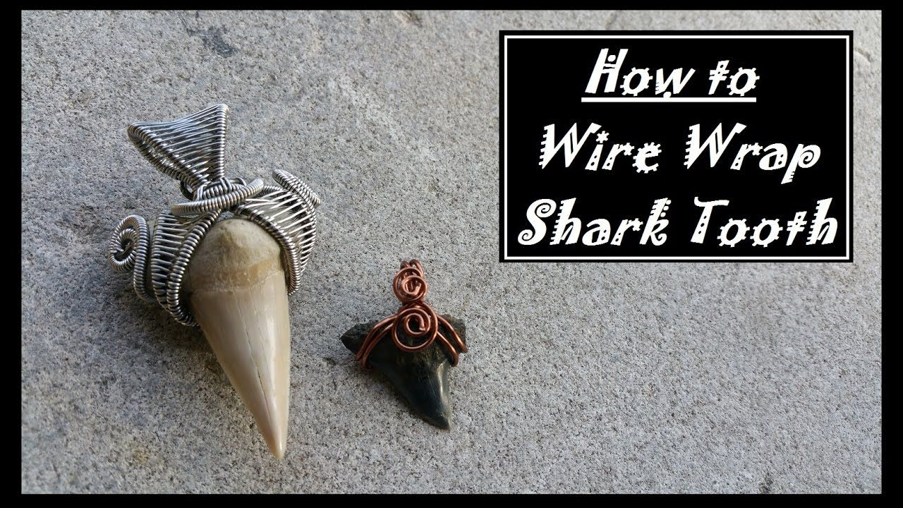 How to wire wrap shark teeth wire wrapping polymer clay videos how to wire wrap shark teeth baditri Images