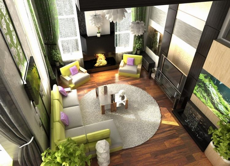 Feng Shui Wohnzimmer einrichten - Ideen und Beispiele Wohnung - feng shui wohnzimmer