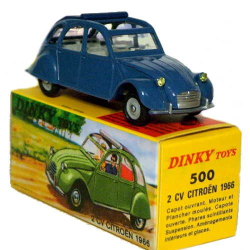 Diecast Dinky Atlas 500 Citroen 2cv New Or Updated At Www Diecastplus Info Corgi Toys Vintage Toys 1960s Toy Car