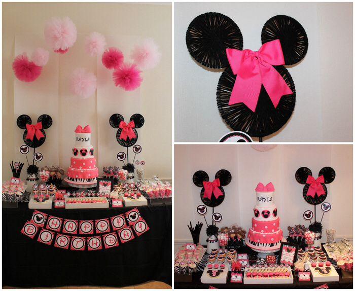 Minnie birthday decor ideas Minnie bday ideas Pinterest Minnie