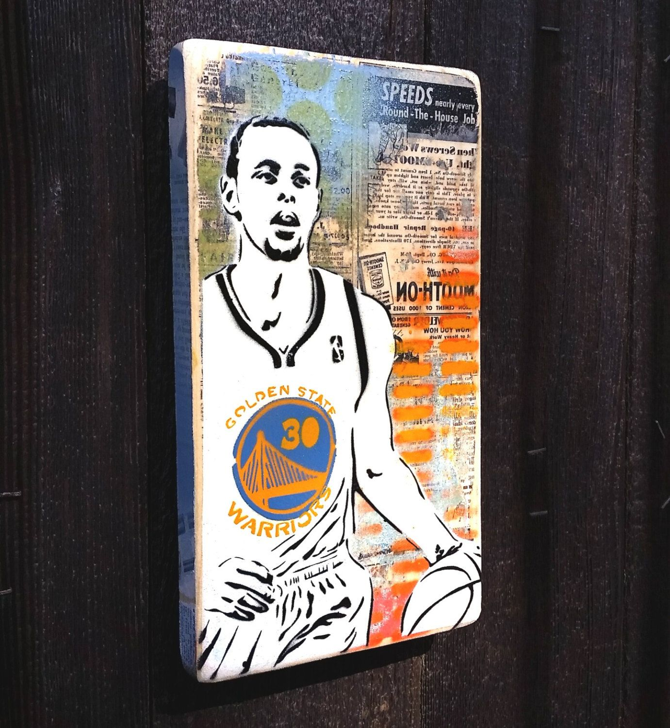 """Golden State Warriors Stephen Curry poster wall decor photo print 24x24/"""" inches"""